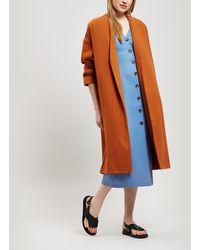 Paloma Wool Julieta Oversized Wool-blend Coat - Orange