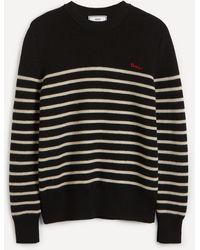 AMI Striped Sweater - Black