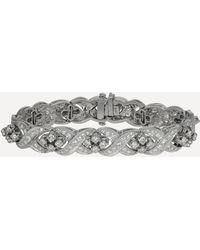 Kojis White Gold Diamond Bracelet - Metallic