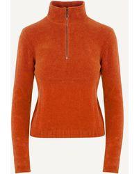 Paloma Wool Baco Half-zip V-neck Sweater - Brown