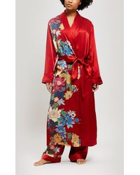 Liberty - Sakura Silk Charmeuse Long Robe - Lyst