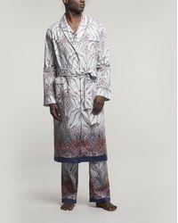 Liberty Leonora Tana Lawntm Cotton Robe - Blue