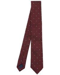 Paul Smith Multi-dot Narrow Silk Tie - Purple