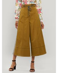 Peter Pilotto Rope Belt Tailored Culottes - Natural