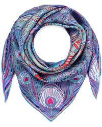 Liberty Hera 90 X 90 Silk Twill Scarf - Blue