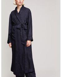 Liberty - Hera Silk Jacquard Long Robe - Lyst