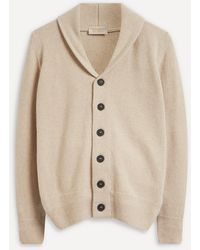 John Smedley Cullen Ultra-fine Merino Wool And Cashmere Cardigan - Natural