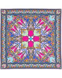 Liberty New Ianthe 70x70 Silk Scarf - Pink