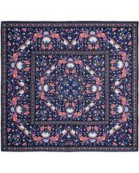 Liberty Lodden 70 X 70cm Silk Twill Scarf - Blue