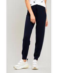 Être Cécile Stripe Knit Track Trousers - Blue