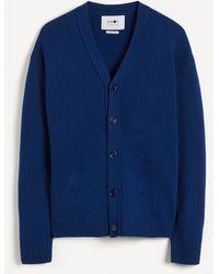 NN07 Bjorn 6333 Wool Cardigan - Blue