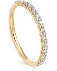 Astley Clarke Gold Interstellar Diamond Half Eternity Ring - Metallic