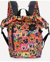 Loewe Pansies Rolltop Backpack - Multicolour