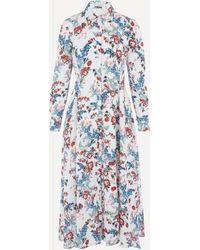 Erdem Bird Blossom Cotton Shirt-dress - Multicolour