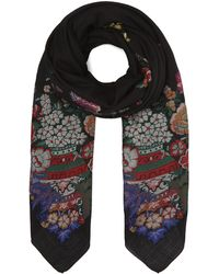 Etro - Bombay Floral Embroidered Shawl - Lyst