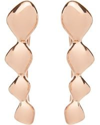 Monica Vinader Rose Gold Plated Vermeil Silver Nura Teardrop Climber Earrings - Metallic