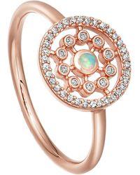 Astley Clarke Rose Gold Icon Nova Medium Opal Ring - Metallic