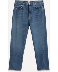 Totême Twisted Seam Denim Jeans - Blue