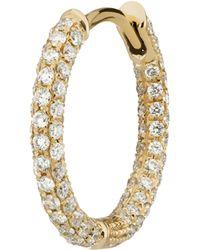 """Maria Tash - 3/8"""" Diamond Five Row Pavé Hoop Earring - Lyst"""