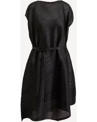 Pleats Please Issey Miyake Bias Tie-waist Pleated Dress - Black