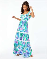 Lilly Pulitzer Ivie Maxi Dress - Blue