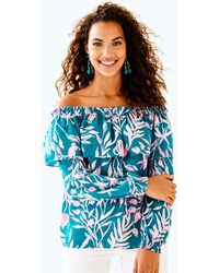 428e4cfc2e30b Lyst - Lilly Pulitzer Dee Top in Blue