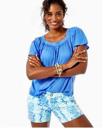 """Lilly Pulitzer 5"""" Callahan Knit Short - Blue"""