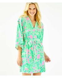 Lilly Pulitzer Elaine Velour Robe - Green
