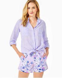 "Lilly Pulitzer 5"" Callahan Knit Short - Purple"