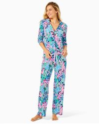 "Lilly Pulitzer 30"" Pj Knit Pant - Blue"