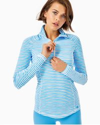 Lilly Pulitzer Upf 50+ Luxletic Justine Pullover - Blue