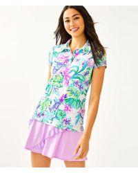 521d06ef4eaafa Lilly Pulitzer Upf 50+ Luxletic Frida Flower Polo Top in Blue - Lyst
