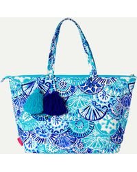 Lilly Pulitzer - Palm Beach Zip Up Tote - Lyst