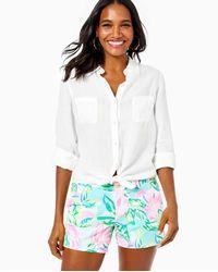 "Lilly Pulitzer 5"" Callahan Knit Short - White"