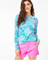 "Lilly Pulitzer 5"" Buttercup Stretch Short - Blue"