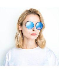 Linda Farrow Matthew Williamson 177 C6 Aviator Sunglasses - Blue