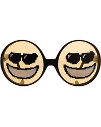 Jeremy Scott Emoticon Sunglasses - Black