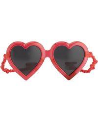 Jeremy Scott Heart Sunglasses - Red