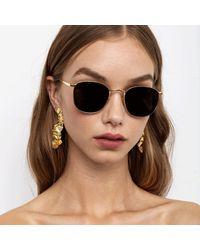 Linda Farrow Simon C5 Square Sunglasses - Multicolor