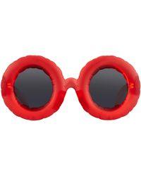 Linda Farrow Jeremy Scott Pool Sunglasses - Red