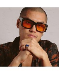Linda Farrow Morrison Rectangular Sunglasses - Multicolor
