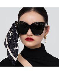 Linda Farrow Dunaway Oversized Sunglasses - Multicolour