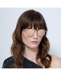 Linda Farrow - Marlon Oval Sunglasses - Lyst