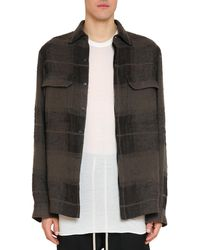 Rick Owens - Check Wool Blend Dirt Shirt - Lyst