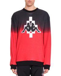 Marcelo Burlon - Kappa Big Logo Cotton Sweatshirt - Lyst