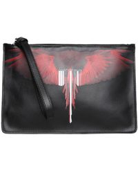 Marcelo Burlon - Wings Barcode Leather Pouch - Lyst