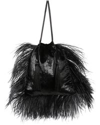 Attico - Party Feathered Bag - Lyst
