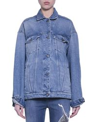 Amen - Cotton Denim Jacket With Angel Print - Lyst