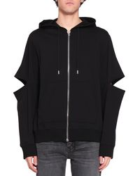 Helmut Lang - Cut-out Cotton Hoodie - Lyst