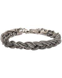Emanuele Bicocchi - Silver Twisted Bracelet - Lyst